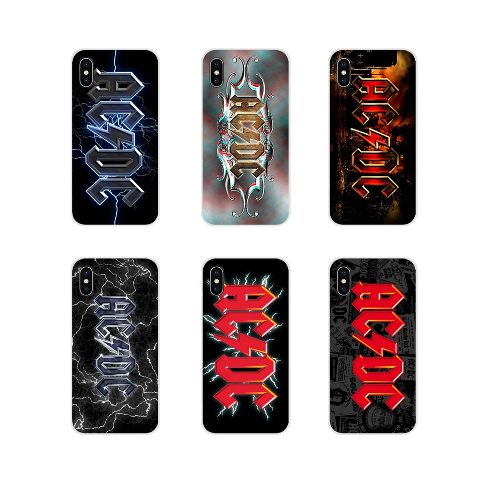 For Xiaomi Redmi Note 6A MI8 Pro S2 A2 Lite Se MIx 1 Max 2 3 For Oneplus 3 6T Silicone Phone Cases <font><b>AC</b></font> <font><b>DC</b></font> ACDC Poster Heavy Metal image