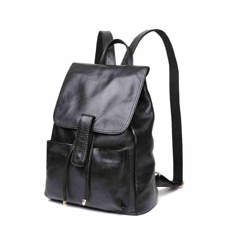 Amasie sac à dos sac à bandoulière pour femmes en cuir véritable femme causalité quotidienne livre sac d'épaule sac pour fille WED0020