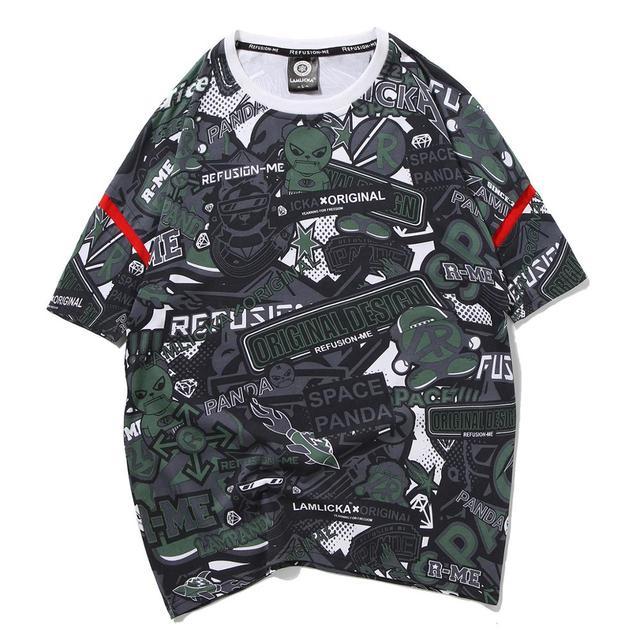 Ropa Verano Manga Harajuku Camiseta Tops Monstruo Algodón 2019 Hop De Hip Corta Tees Japonés Hombres Kaiju Streetwear lTJFc3K1