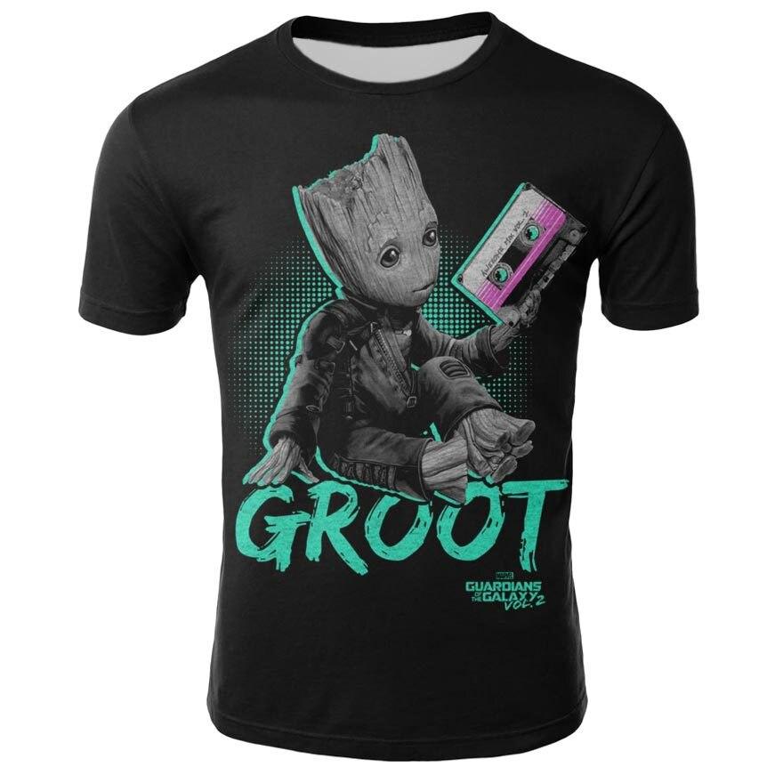 Groot T-shirts T-shirt Dos Homens Unisex X planeta monarca Bounty Hunter Superhero Movie guardians of the galaxy engraçado Da Novidade 3d t-shirt