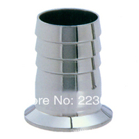 Free Shipping SS304 2 OD 51mm Sanitary Hose Barb Adapter Pipe Fitting Fits TRI CLAMP OD