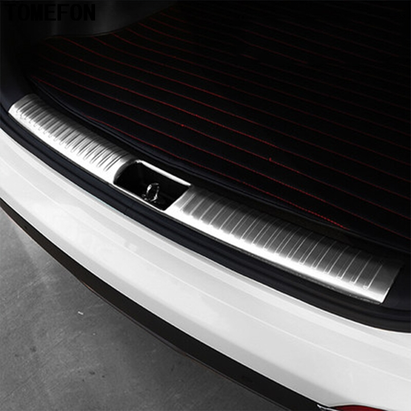 Steel Inner Rear Bumper Protector Sill Plate Cover For Hyundai Tucson 2015-2018