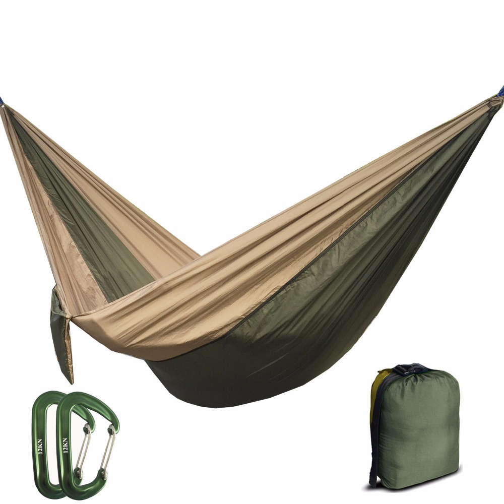 210T Nylon Parachute Hammock Light Weight Outdoor Camping Portable - Furniture