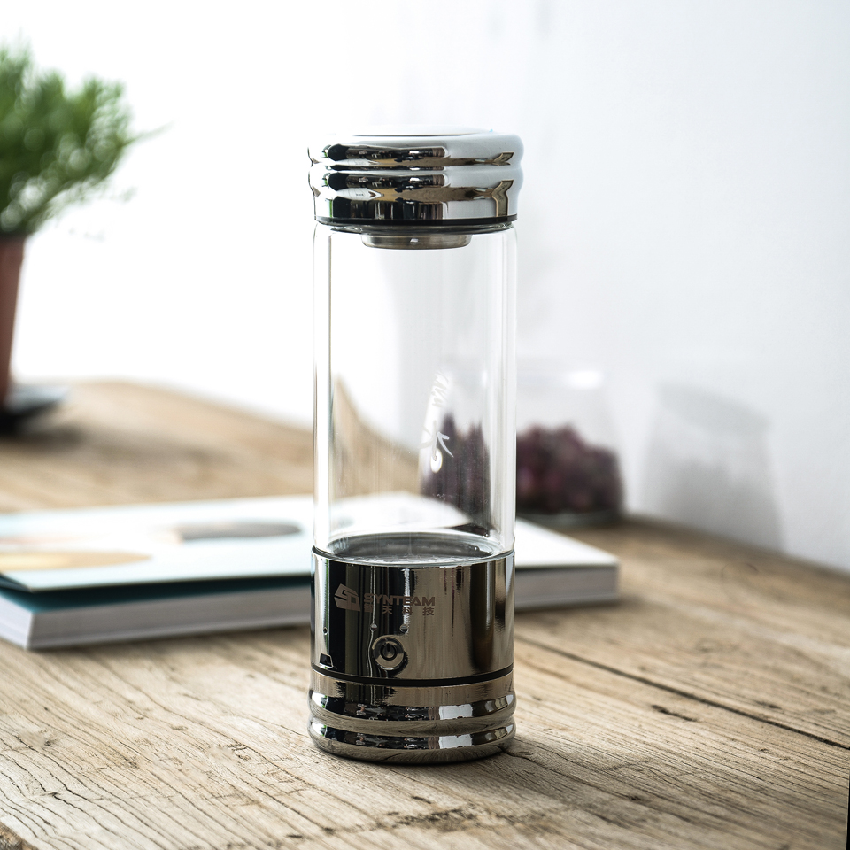 Hydrogen Water Generator Glass Bottle 380ml Healthy Hydrogen Water Maker Ionizer miniature plastic deep groove ball bearing plastic bearing v 608 glass ball strong plastic environmental protection corrosion