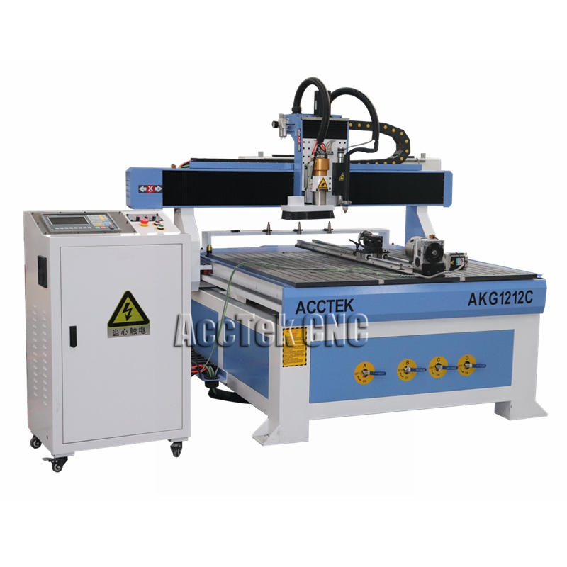AccTek 2-in-1 Cnc Router And Plasma Cutting Machine 1212 With Starfire Controller/ Atc Cnc Router Plasma 1212 For Steel