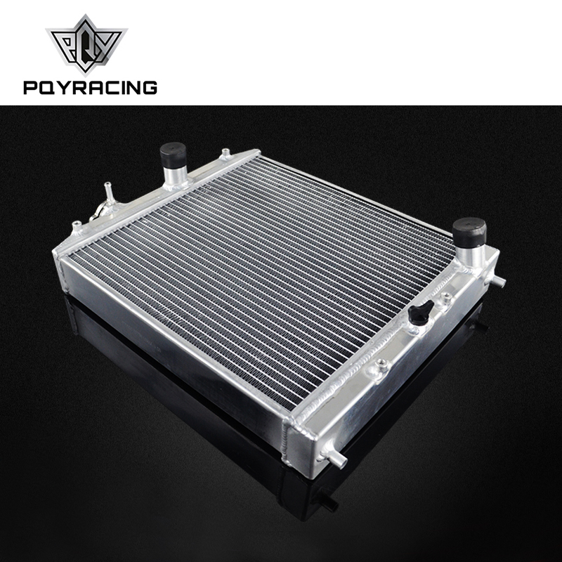 PQY 52MM Full Aluminum Radiator 3 Row For HONDA CIVIC B18C B16A 32MM IN OUT PQY