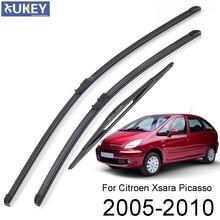Xukey-Juego de escobillas limpiaparabrisas delanteras y traseras para Citroen Xsara Picasso 2005 2006 2007 2008 2009 2010 26