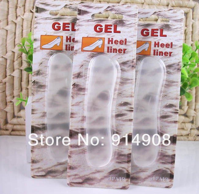 Free shipping 1000 Pairs/Lot Silicone Gel Heel Liner Soft Feet Insoles free shipping 1000 packs lot silicone