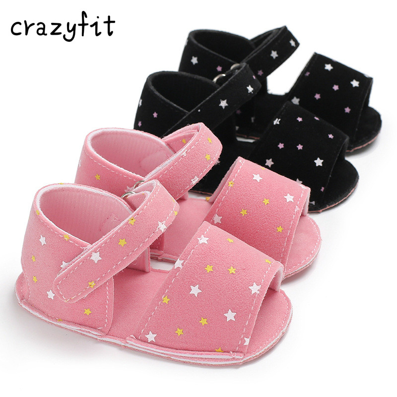 Newborn Baby Boys Girls First Walkers Star Infant sandals Bowknot Sneakers Shoes Summer