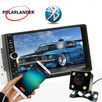 7 Inch Mirror Link For Android 7.0 FM Bluetooth Automagnitol LCD Touch Screen Rear Camera Radio Cassette Player Car Audio 2 Din