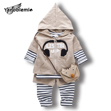 2017 Letter Women Hooded Clothes Units Quick Sleeves Sweatshirt+Leggings Pants+Stripe T-Shirt 3pcs Toddler Spring Hoodie Garments