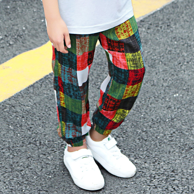 Feiluo Boys Plaid Pants 2019  New Boys Pants For Summer Children's Trousers Kids Pants For 3 6 12y Ttx354 Toddler Pants Fttx354