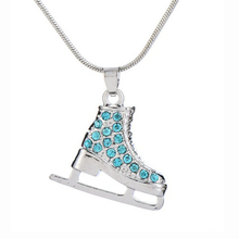 Ice Skate Shaped Girl's Pendant Necklace