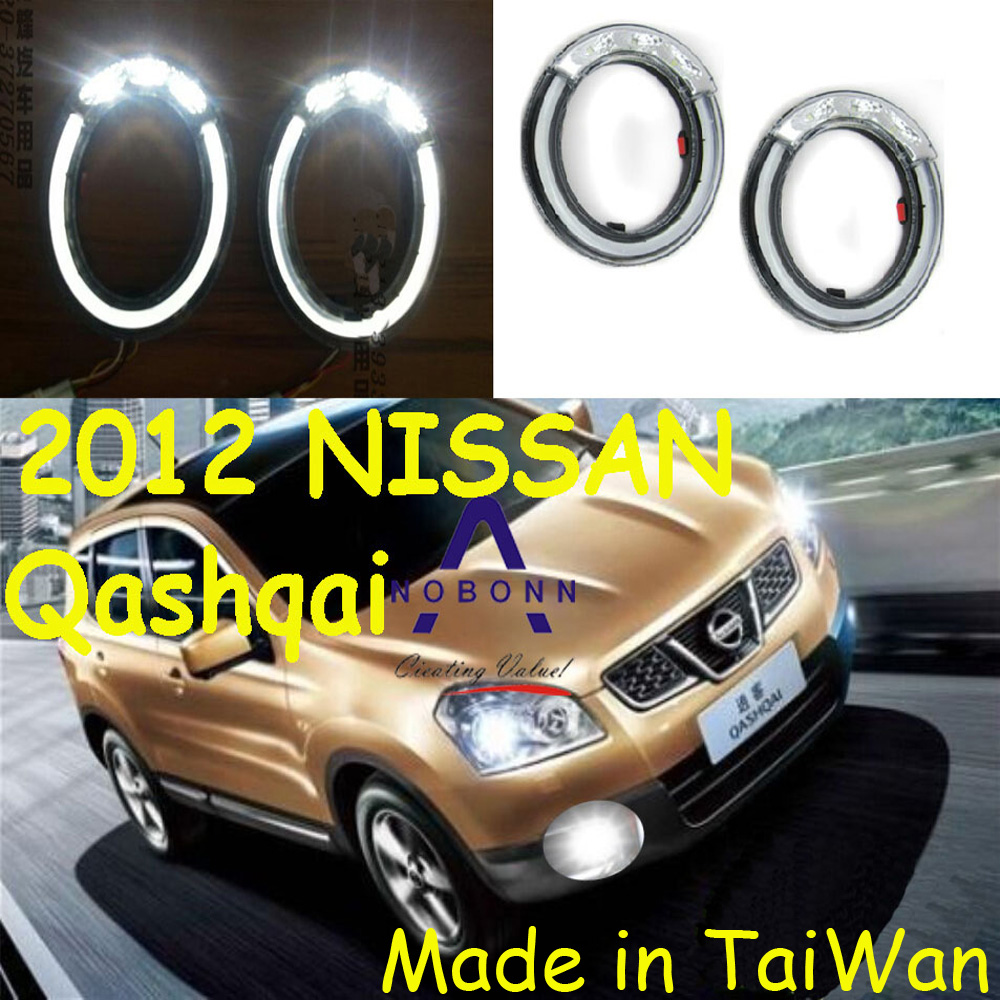 Car-styling,Qashqai daytime light,2008~2013,chrome,LED,Free ship!2pcs,Qashqai fog light,car-covers,Qashqai headlight sylphy daytime light 2015 2017 free ship led car styling 2ps set sylphy fog light chrome car covers lannia
