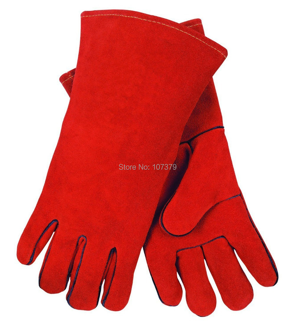Leather work gloves for welding - Leather Work Glove Welding Glove Wing Thumb Split Cow Leather Deluxe Welder Safety Glove In Safety Gloves From Security Protection On Aliexpress Com