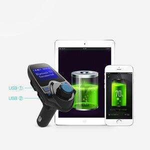 Image 3 - Bluetooth Trasmettitore FM USB Kit Per Auto Aux 12V Lecteur USB Voiture In Metallo E Plastica MP3 Lettore Auto Per Auto ABS Bluetooth MP3