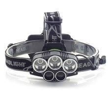 5 LED T6  led headlamp flashlight Q5 blue light Head light torch  forehead lampe frontal frontale headlight fishing hunting