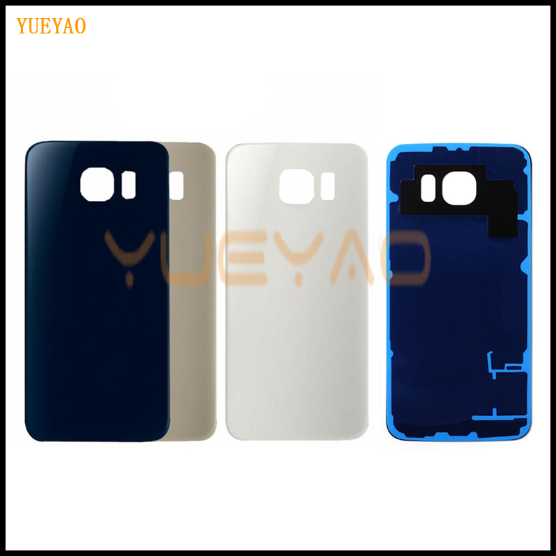 S6 G920 Back Cover For Samsung Galaxy S6 G920F Back Battery Door Rear Housing Cover Case For Samsung S6 G920 Battery Cover(China)