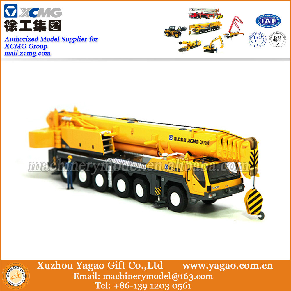1:50 Scale Model, Diecast Toy, Construction Model, XCMG QAY200  Crane Truck Model, Craft, Gift, Decoration green 1 24 scale foton lovol m2104 k tractor diecast model truck alloy toy m2104k