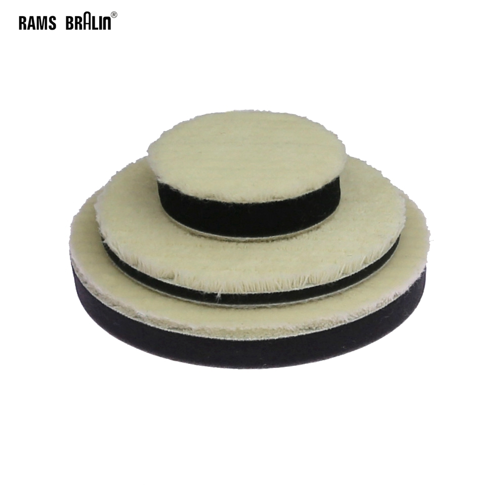 1 Piece 3 In. Japanese Short Wool Sponge Polishing Round Pad Glazing Waxing Tool
