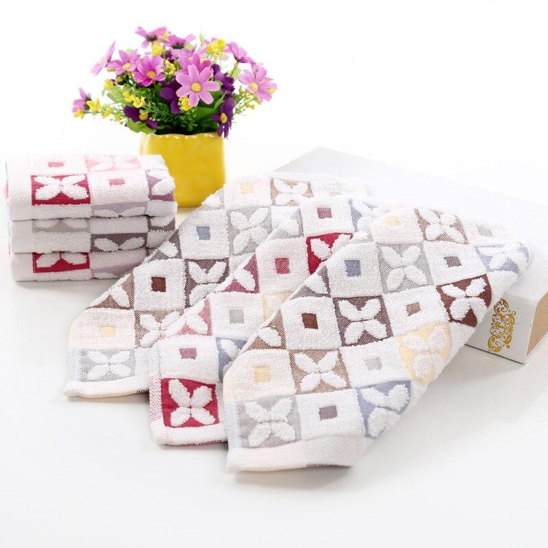 3 unids/lote cuadrado 100% algodón toallas de cuatro pétalos de flores bebé adul