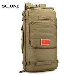 Molle 50L plecak kempingowy taktyczny plecak wojskowy plecaki taktyczne kamuflaż turystyka torba na zewnątrz Sac De plecak sportowy XA632WA w Torby wspinaczkowe od Sport i rozrywka na
