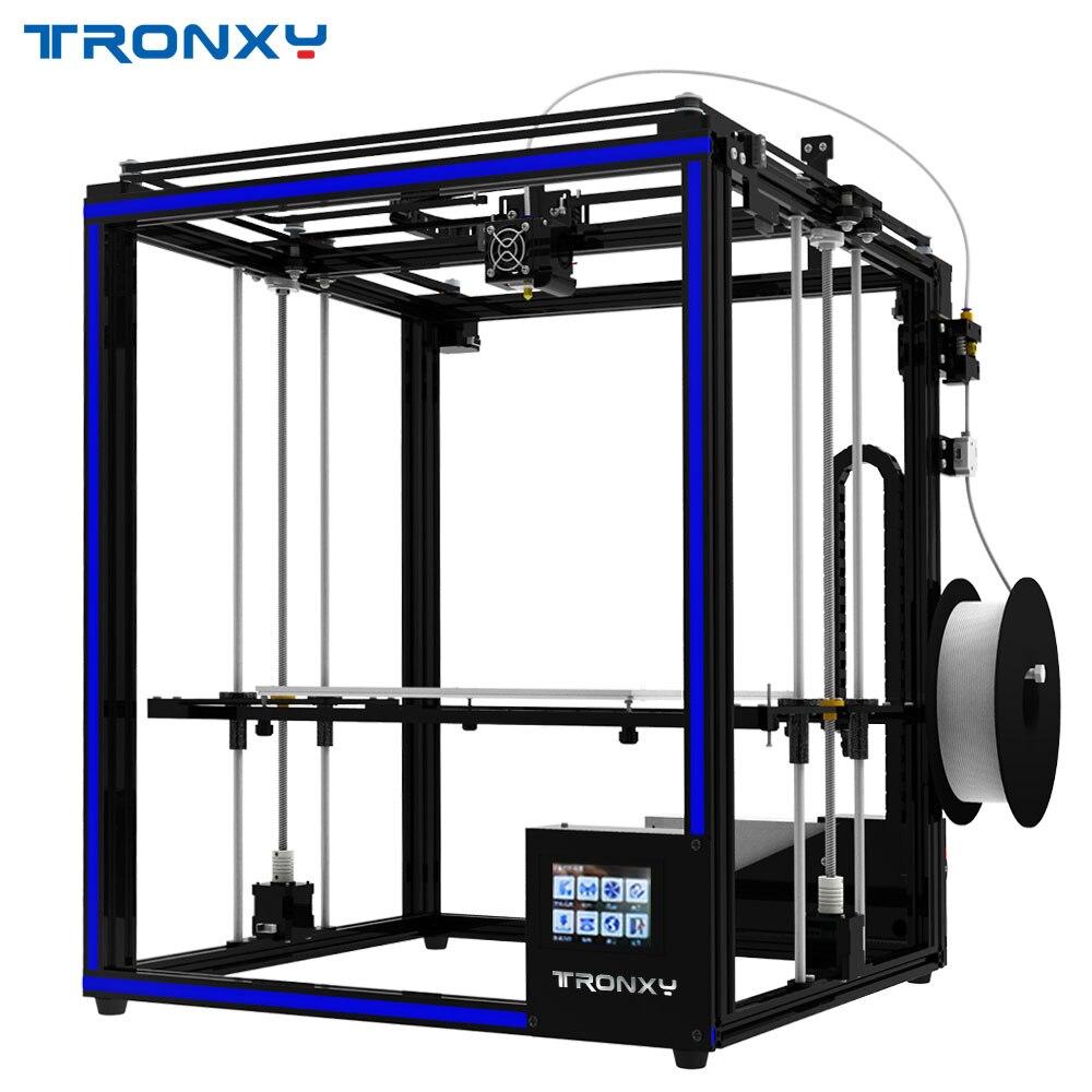 Plus récent 2018 Tronxy 3D Imprimante X5SA-400 Haute Précision Vitesse Rapide D'assemblage BRICOLAGE Imprimante avec Capteur 3.5 pouces Écran Tactile