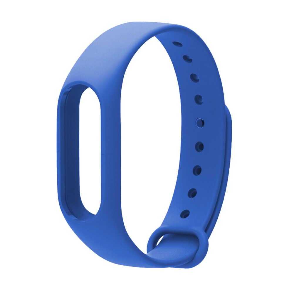 צבעוני חכם צמיד לשיאו mi mi Band 2 רצועת יד החלפת חגורת סיליקון ספורט צמיד חכם צמיד אבזרים