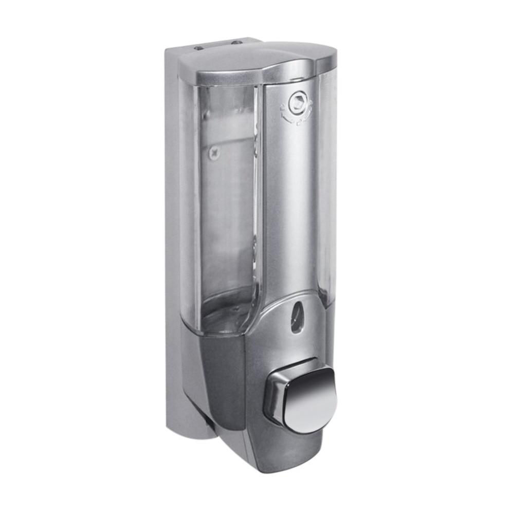350 ml Liquido Parete Dispenser di Sapone Disinfettante Per Le Mani Shampoo Dispenser Mano Per Lavello Bagno Bagno Hotel Doccia Bagno con una Serratura
