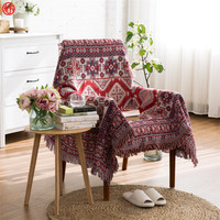 Home decor multifunction blanket red geometric yarn dyed blankets sofa chair cover tapestry 130*180cm 170*220cm floor carpet