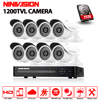 HD 1080P HDMI CCTV System 8CH 1080N AHD DVR Kit 1080 960P Indoor Outdoor Metal Security