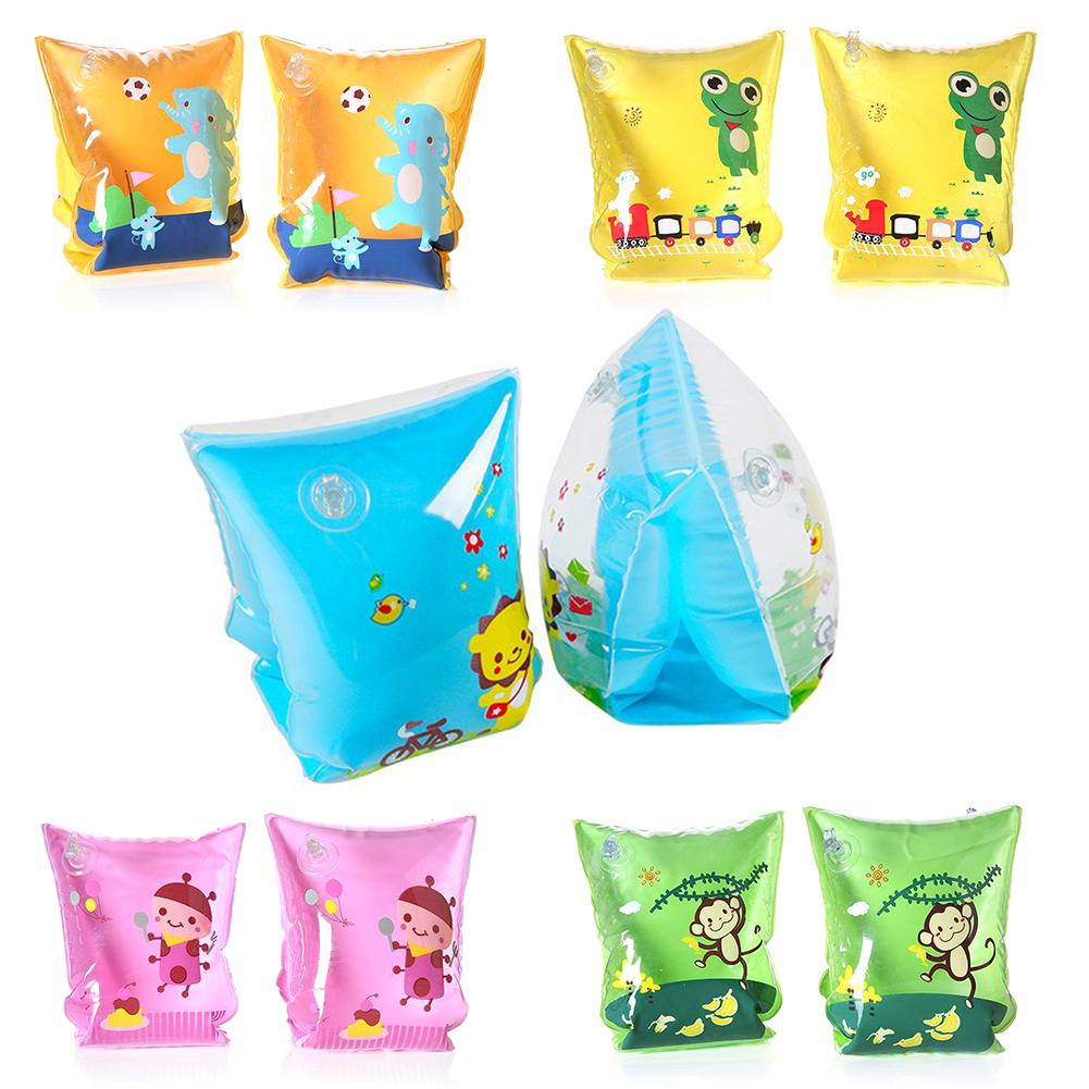 Children's Swimming Float New Baby Water Ring Thick Double Balloon Safety Training Swimming Float Children Cartoon Arm Circle