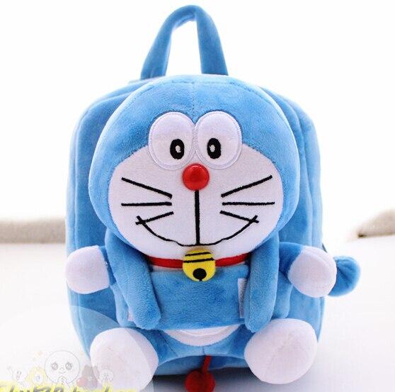 1PC 25cm cartoon little Doraemon warm sweet plush doll backpacks cute students shoulder bag Satchel girl toy gift of baby