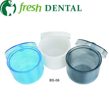 1Pc Dental Bur Soak Sterilize Cup Autoclavable Sterilize Box With Net blasket Full autoclavable 4 colors SL301 image