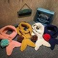 Малыш шарф зимние девушки мальчик люксовый бренд платки bufanda пончо мыс echarpe hiver sjaal шали шарфов cachecol трикотажные кольцо wrap