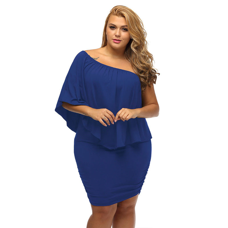 Liva Girl 2018 Women Plus Size Dress Red Off Shoulder Femme Sexy