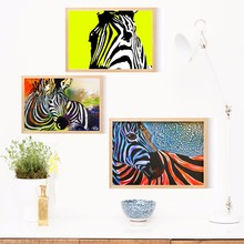 Colorful Zebra Artwork Canvas Art Print Painting Poster Wall Pictures For Living Room Home Decorative Bedroom Decor No Frame