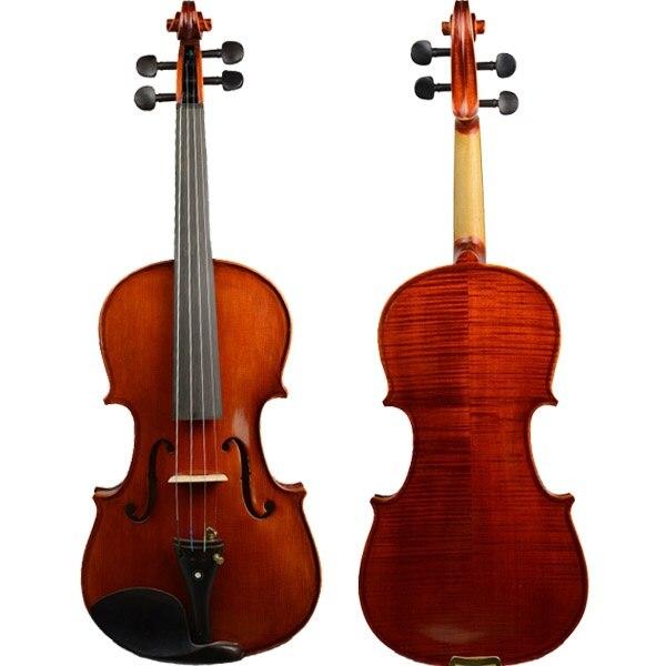 Violin Solidwood 4 4 Violin Spruce Top Flamed Back Set