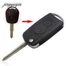 Jingyuqin 10 шт./лот Новые 2 кнопки флип складной автомобиль дистанционного ключа чехла для SsangYong Actyon внедорожник Kyron
