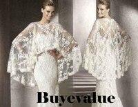Kant Wit Ivoor Sjaal Bolero Bruiloft Jas Bridal Shrug Wraps Custom Size T41
