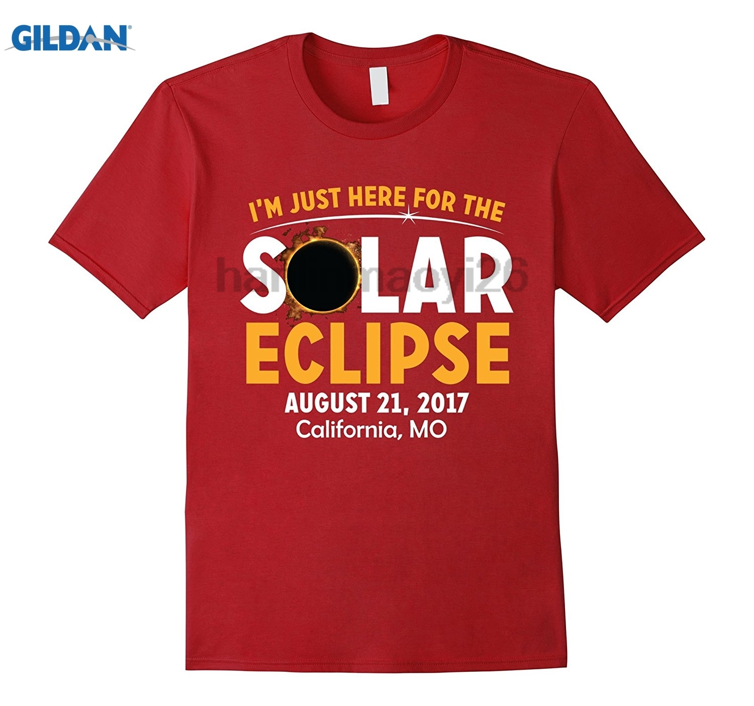 DILDAN Im Just Here for the Solar Eclipse T-Shirt California, MO
