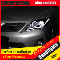 Auto Clud Car Styling For Toyota Corolla Altis LED Headlights 2011 2013 DRL Lens Double Beam