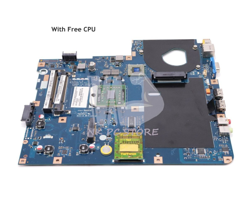 NOKOTION MBPGY02001 MB.PGY02.001 MAIN BAORD For Acer Aspire 5516 5517 5532 Laptop Motherboard NCWG0 LA-4861P DDR2 Free CPU