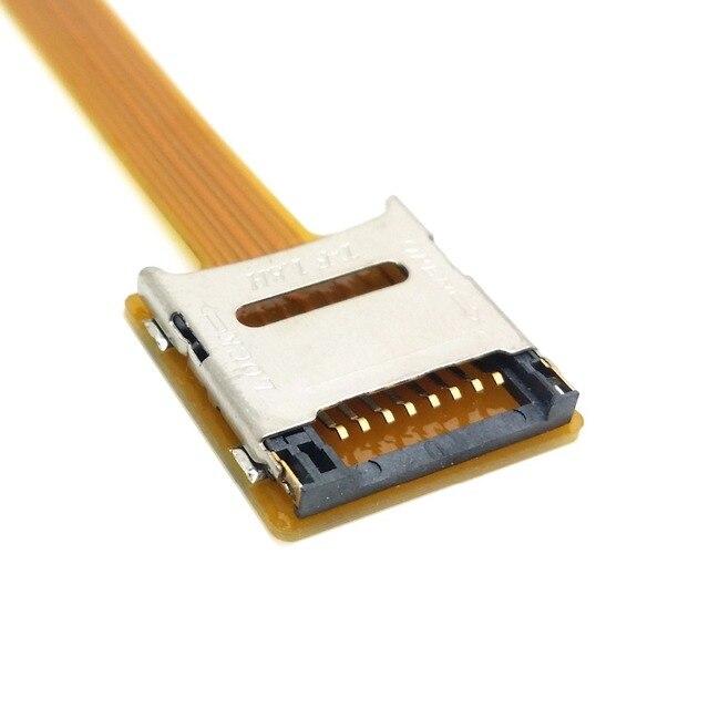 Chenyang-câble CY Micro SD TF carte mémoire Kit mâle à femelle Extension souple plat FPC câble Extender 10cm