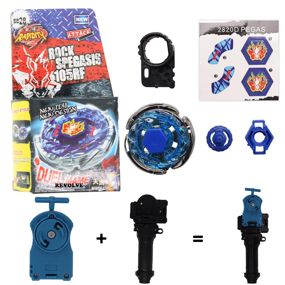 4D Beyblade BB28 Storm Pegasus Pegasis Metal Fusion Beyblade Rock spegasis 105RF
