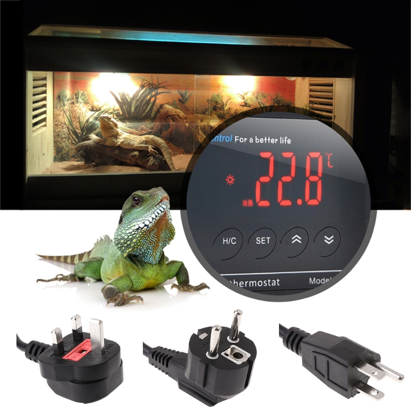 Digital Led Temperature Controller Thermostat For Aquarium Reptile Uk/eu/us