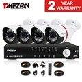 Tmezon 4ch 2mp ahd 1080 p sistema de seguridad cctv 4 unids día noche Cámara impermeable DEL IR Kit de Seguridad de Sistemas de Alarma En Casa 1 TB 2 TB