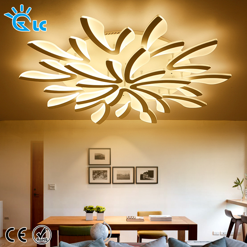 Creative LED Ceiling Lights  AC 220V Remote ceiling lamps for bedroom Dimmable acrylic aluminum Modern light fixtureCreative LED Ceiling Lights  AC 220V Remote ceiling lamps for bedroom Dimmable acrylic aluminum Modern light fixture