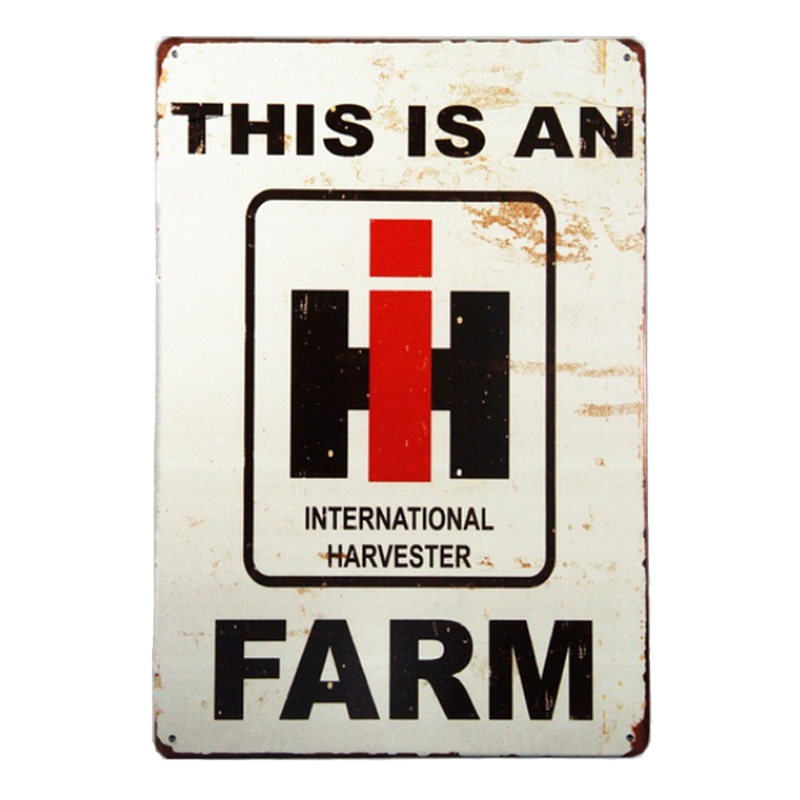 This is an international harvester farm! vintage metal signs retro tin plate iron painting wall decorationThis is an international harvester farm! vintage metal signs retro tin plate iron painting wall decoration
