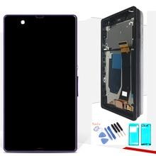 Оригинальный Дисплей для SONY Xperia Z ЖК-дисплей Сенсорный экран планшета с рамкой для SONY Xperia Z ЖК-дисплей L36H C6603 C6602
